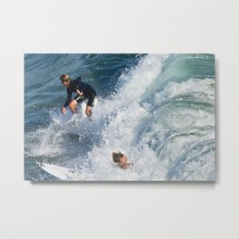 Sports Wipe Out Surf City USA Metal Print