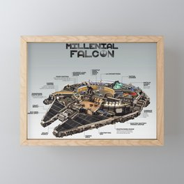 Millennial Falcon Framed Mini Art Print