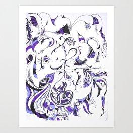 Exaustion Art Print