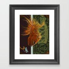Fi$h Framed Art Print