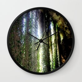 Inside a cave, looking out! Wall Clock