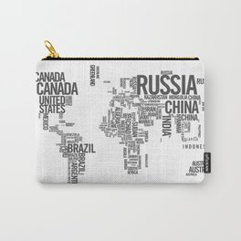 World Map - Atlas Carry-All Pouch