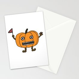 Anxious Pumpkin Stationery Cards
