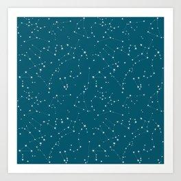 stars in the zodiac (cobalt blue) Art Print