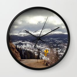 Curvy Road Ahead Wall Clock