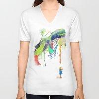 archan nair V-neck T-shirts featuring Azalia by Archan Nair