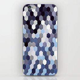 Honeycomb Pattern In Blue Tones iPhone Skin