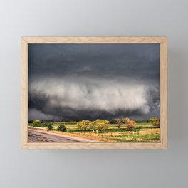 Tornado Day - Storm Touches Down in Northwest Oklahoma Framed Mini Art Print