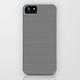Black and White Scallop Line Pattern Digital Graphic Design iPhone Case