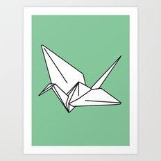 Paper Crane, 2013. Art Print