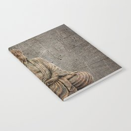 Sitting Buddha On Distressed Metal Background Notebook