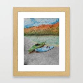 THE 2 OF US - Kayaking Framed Art Print