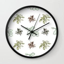 Quercus (greens) Wall Clock