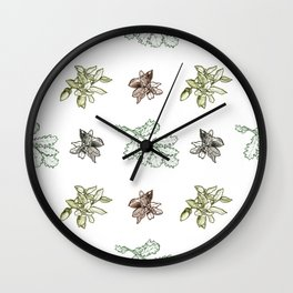 Quercus (greens) Wall Clock