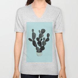 Monday blue cactus pricks Unisex V-Neck