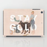 stay gold iPad Cases featuring Stay Gold by Heather Landis