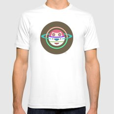 Spaceman 3 Mens Fitted Tee MEDIUM White