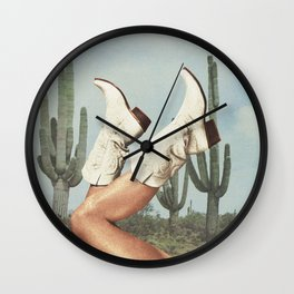 These Boots - Cactus & Yee haw Wall Clock