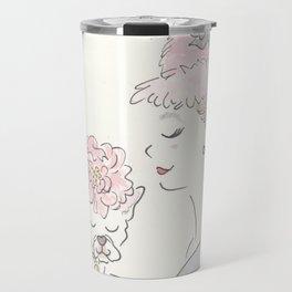 French Bulldog Flower Power : Fashion and Fluffballs Travel Mug