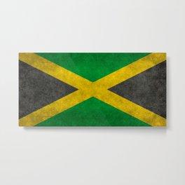 Jamaican flag, Vintage retro style Metal Print
