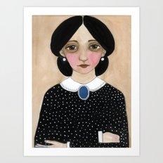 Miss Ruth, Victorian Lady Portrait Art Print