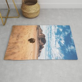 The Lonely Bison, Salt Lake City, Utah-Desert Landscape Rug