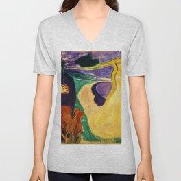 Edvard Munch - Separation - Digital Remastered Edition Unisex V-Neck
