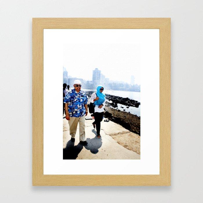 Mumbai Crowds - Haji Ali Mosque - 33 Framed Art Print