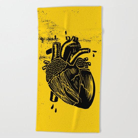 heart Beach Towel