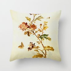 Chrysantheme Throw Pillow