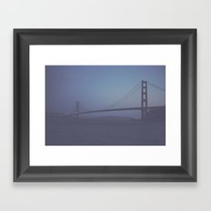 Golden Gate at Nightfall  Framed Art Print