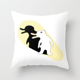 Rabbit Duck Shadow Puppet Throw Pillow