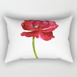 Ink Poppy Painting (Original Artwork) Rectangular Pillow