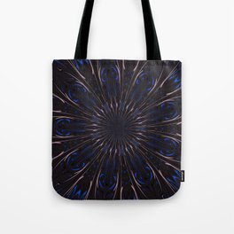 Shafts Of Light Kaleidoscope Abstract  Tote Bag