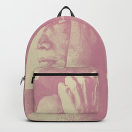 Beneath Broken Earth: Pink Shadow (lady portrait with autumn leaves) Backpack