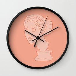 Ancient Head Statue Illustration #1 Wall Clock