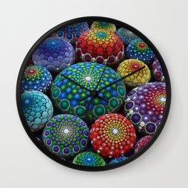 Jewel Drop Mandala Stone Collection #1 Wall Clock