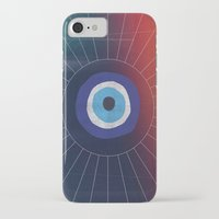 evil eye iPhone & iPod Cases featuring Evil Eye by DuckyB