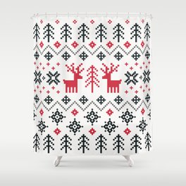 HOLIDAY SWEATER PATTERN Shower Curtain