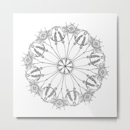 Flower Lace Metal Print