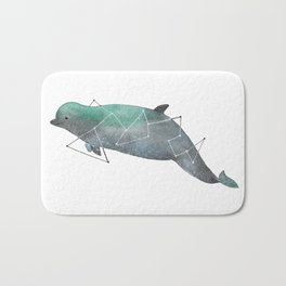 Bottlenose whale Bath Mat