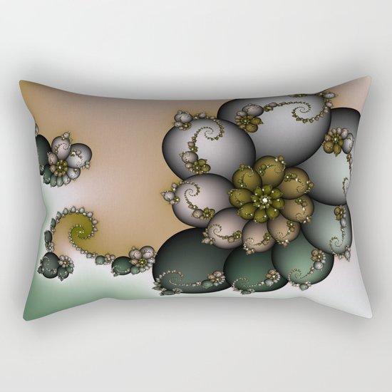 Trinket Flower Fractal Rectangular Pillow