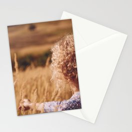 Girl in the field Stationery Cards
