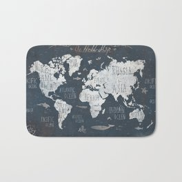 World Map / Rusty Bath Mat