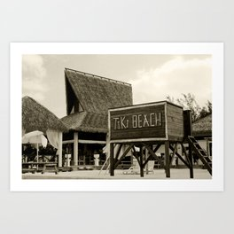 Travel Photography : Tiki Beach in Cayman Islands Art Print