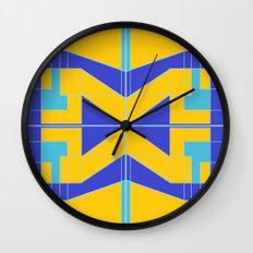 Go Blue Wall Clock
