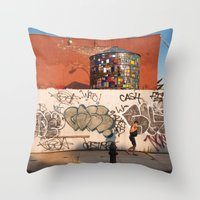 brooklyn Throw Pillows featuring Brooklyn by Phil Provencio