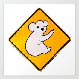 Koala Wid Attitude Art Print