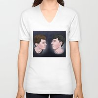danisnotonfire V-neck T-shirts featuring Dan and Phil by Greenteaelf