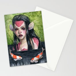 Lady In Mourning Stationery Cards
